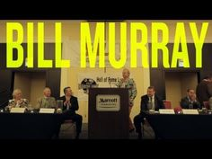 Bill Murray is now in the Minor League Baseball Hall of Fame. His induction speech is 13 minutes of awesome.
