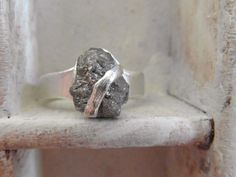 5.56 carats-Raw rough uncut diamond- solitaire- I am obsessed with this ring
