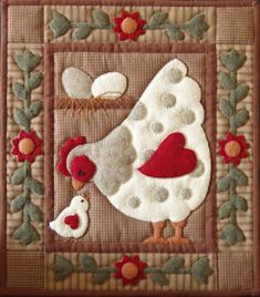 Miniature Rachel of Greenfield Quilt Kit - Spotty Hen 13in X 15in