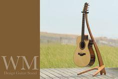 WM Guitar Stand in cherry with ebony binding.