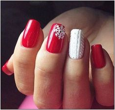 38 Amazing Christmas nail ideas for Christmas short nails; , , 38 Amazing Christmas nail ideas for Christmas short nails; Cute Christmas Nails, Christmas Nail Art Designs, Xmas Nails, Holiday Nails, Red Nails, Christmas Manicure, Christmas Snowflakes, Christmas Acrylic Nails, Simple Christmas