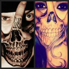 Hand in Face Tatts  z+a