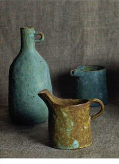 Ibaraki ceramics~ beautiful colors, rustic simple shapes.