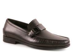 Salvatore Ferragamo men's loafers in black leather - Italian Boutique €279
