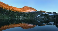 https://flic.kr/p/cNXwAy | Mirror | One of the twin lakes in Monashee Provincial Park during sunset with Boulder Mountain overlooking the lake.
