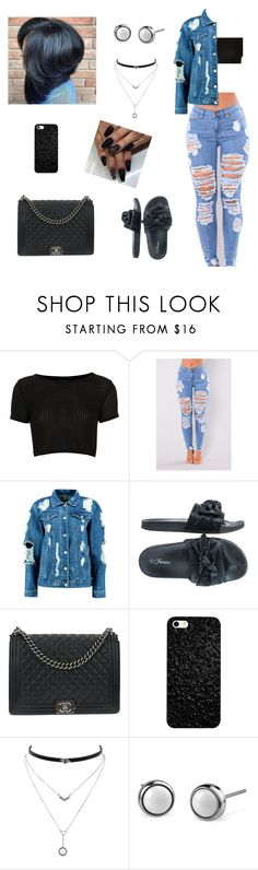 """Untitled #637"" by honeycombs23 ❤ liked on Polyvore featuring Topshop, Boohoo, Forever Link, Chanel and Jessica Simpson"