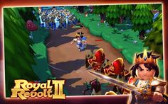 Defend your castle and build a deadly maze for your enemies. Explore and conquer the kingdoms of your friends and foes in this brilliant sequel. Overthrow the royals on your way to the top, but be aware of your own enemies, your Highness – there's a royal revolt going on!!!  Awesome 3D graphics Multiplayer strategy Design your battleground  Royal Revolt 2 – Fight for your Kingdom!
