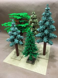 Playing around with trees - * Lego-land 5 - Lego Design, Lego Technic, Lego Friends, Lego Moc, Pokemon Lego, Technique Lego, Lego Tree, Construction Lego, Lego Christmas
