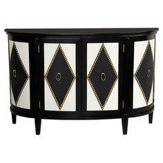 Mila Cabinet - Bohemian Black & White on Joss & Main