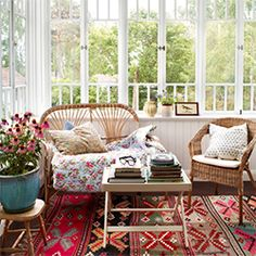How about spending a lazy Sunday morning reading in this sunny room? (image by Idha Lindhag)