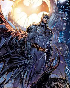 Batman By Jonboy Meyers Joker Batman, Batman Dark, Batman The Dark Knight, Batman Suit, Batman Robin, Batman Painting, Batman Artwork, Batman Comic Art, Dc Universe