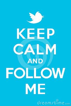 Blue poster Keep calm and follow me jacking of Keep calm and carry on