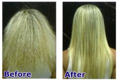 chemically relaxed hair before and after - Google Search