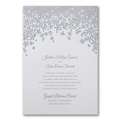 A darling floral design highlights your wording on this letterpress wedding invitation. Your guests are sure to admire your style. Floral Letterpress Wedding Invitations, Discount Wedding Invitations, Floral Invitation, Elegant Wedding Invitations, Wedding Programs, Bridal Shower Invitations, Wedding Stationery, Invites, Marriage Vows