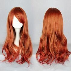 Online Shop Promotion Copper Red Ombre 65cm Long Loose Weave Lolita Cute  Cosplay Wig Free Shipping. SombrasPelo Largo Y OnduladoPelucas ... 04047784126a
