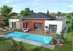 Laissez-vous séduire par cette belle maison moderne de plain-pied, qui allie toiture traditionnelle et toi plat !