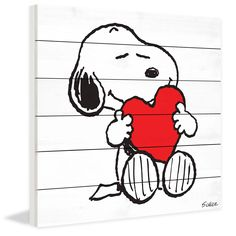 Snoopy Red Heart