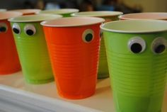 Monster cups! Everything is more fun with googly eyes... by matilda