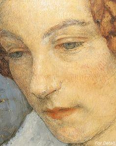 EDGAR MAXENCE (1871 - 1954) - WOMAN PRAYING - DETAIL