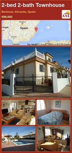 2-bed 2-bath Townhouse in Benimar, Alicante, Spain ►€99,950 #PropertyForSaleInSpain