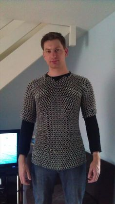 Wow.  A lot of work, but I suppose worth it if you are into this sort of thing!    Tutorial: How to Make Chain Mail Armor From Start to Finish « Metalworking