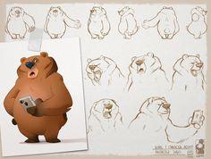 "774 отметок «Нравится», 5 комментариев — Biboun (@biboun_fossard_christophe) в Instagram: «-grumpy bear- . bear's design for a little animated serie by ""la grange aux monstres"" . . #bear…»"