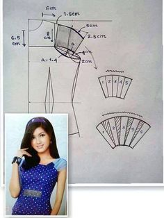 Sewing blouse sleeve inspiration 16 New ideas Techniques Couture, Sewing Techniques, Dress Sewing Patterns, Clothing Patterns, Pattern Drafting Tutorials, Sewing Sleeves, Sewing Blouses, Modelista, Pattern Cutting