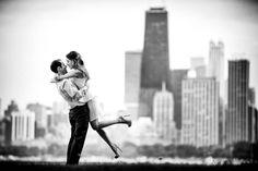 Summer Chicago Engagement Shoot   Photos by Kevin Weinstein