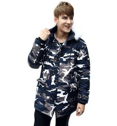 46.61$  Watch here - http://alik6a.shopchina.info/go.php?t=2019471360 - 2017 New long winter camouflage mens coat thick cotton-padded jacket NO.53  P100 46.61$ #magazine