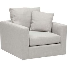 Miller Swivel Chair, Donald Platinum - Fabric - Chairs - Furniture