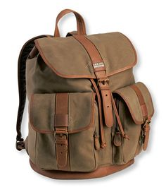 Maine Guide Rucksack, Waxed Canvas