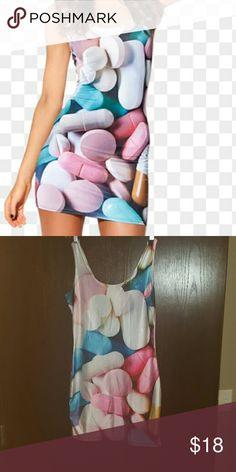 Black Milk Inspired Pills Dress Black Milk inspired Pills dress Size M/L Stretches  Like new Dresses Mini