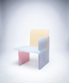 Wonmin Park's 'Haze Chair' looks to be taken straight out of a Monet. Built from slabs of coloured resin, the furniture is defined by basic geometric shapes.   Click the image for the rest of the set.