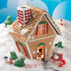Winter+Wonderland+Gingerbread+Cottage+Recipe-+Recipes+ Constructing+a+gingerbread+cottage+will+become+a+tradition+for+your+family+during+the+holiday+season+with+this+easy+recipe+and+instructions.