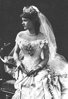 1882 wedding photo of Princess Helena of Waldeck-Pyrmont, who became the wife of Prince Leopold, Duke of Albany (the youngest son of Queen Victoria and Prince Albert).