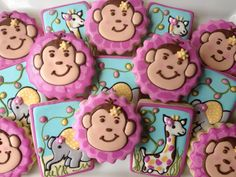 Girly Jungle Meets Safari Cookies