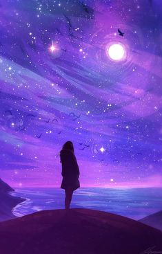 New Purple Aesthetic Wallpaper Sky Ideas Anime Sky, Anime Galaxy, Art Anime, Anime Kunst, Galaxy Art, How To Draw Galaxy, Galaxy Wallpaper, Wallpaper Backgrounds, Wallpaper Space