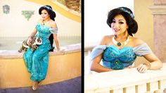 #PrincessJasmine #Costume Idea for Halloween by CharismaStar (Charis Lincoln) - Outfit made by Cassie Wanda from Glimmerwood (glimmerwood.com) - Wig by Traci Hines (tracihines.com) (adorkableapparel.com)