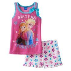 "Disney's Frozen Elsa & Anna ""Sisters Forever"" Pajama Set - Girls"