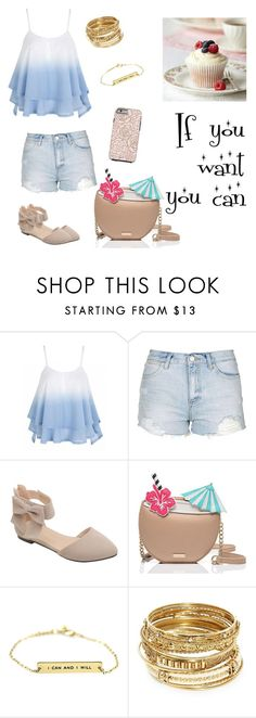 """""""You can do this"""" by boombox14 ❤ liked on Polyvore featuring Topshop, Kate Spade and ABS by Allen Schwartz"""