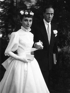 Famous Weddings - Audrey Hepburn and Mel Ferrer, 1954