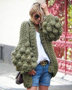 Knitted chunky cardigan oversize cardigan