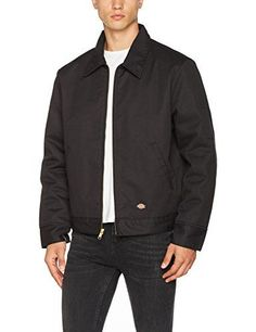 Dickies Men Insulated Eisenhower FrontZip JacketBlackXLarge RegularBlackXLarge Regular  Dickies iconic and most popular jacket. Water repellent and resistant. Lightweight but warm with nylon quilted lining.       Dickies Men Insulated Eisenhower FrontZip JacketBlackXLarge RegularBlackXLarge Regular Features   Front-zip jacket with spread collar and slant pockets at sides  Pencil pocket on left sleeve  Adjustable tabs at waistband  Button cuffs   The post  Dickies Men Insulat..