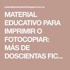 MATERIAL EDUCATIVO PARA IMPRIMIR O FOTOCOPIAR: MÁS DE DOSCIENTAS FICHAS DE TEXTOS CORTOS PARA PRIMERO Y SEGUNDO. COMPRENSIÓN LECTORA
