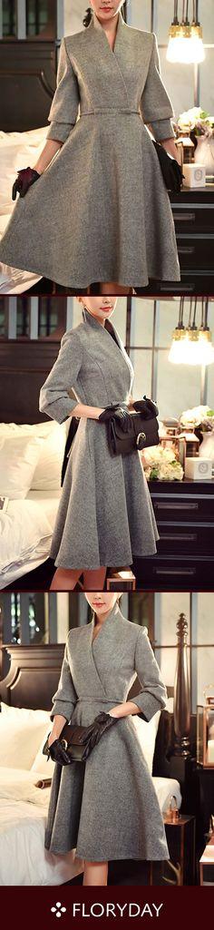 Long Sleeve Midi X-line Dress Solid long sleeve midi X-line dress, elegant dress, daily.Solid long sleeve midi X-line dress, elegant dress, daily. Pretty Outfits, Pretty Dresses, Beautiful Dresses, Fall Outfits, Vintage Outfits, Vintage Fashion, Affordable Dresses, Vintage Mode, Mi Long