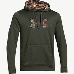 #NEW Men's Under Armour Green Realtree Xtra Camo Hoodie $70.99