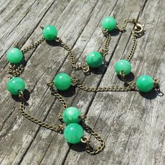Lush Growth Necklace  green quartz stone  by MySoulCanDance on etsy
