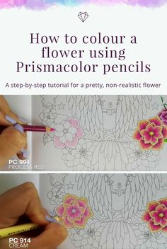 Tutorial: How to colour a flower using Prismacolor pencils - Fox Design Den