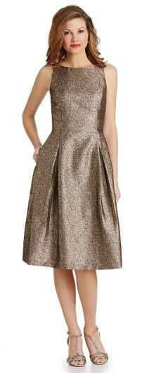 Glitter Lace A-Line Midi Dress | Tea Length Dresses for the Mother ...