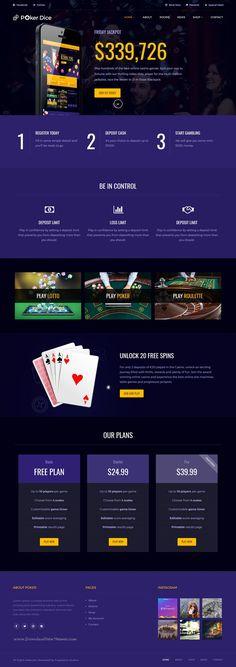 Web Casino Website Template | Your Pinterest Likes | Pinterest ...